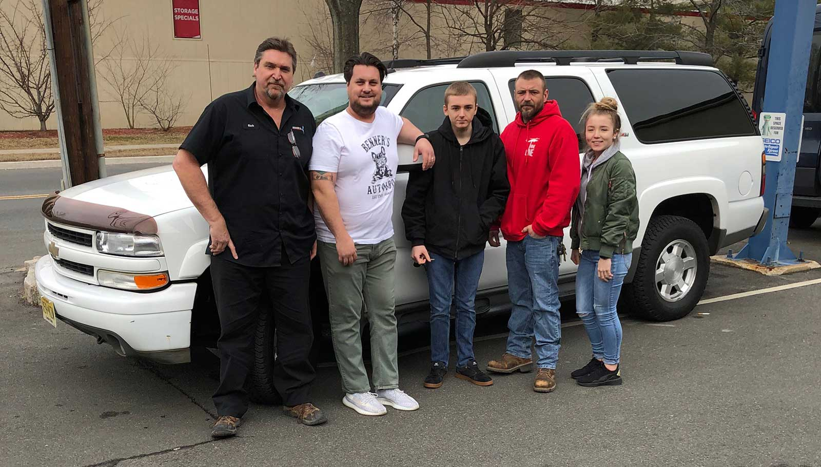 benners with donated car